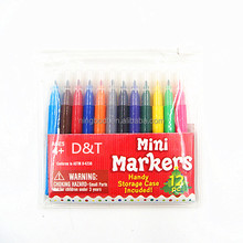 High quality 12pcs lovely mini markers for kids