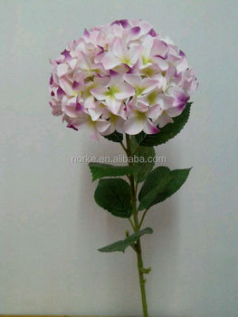 2014 top quality artificial single stem flowers, artificial hydrangea flower