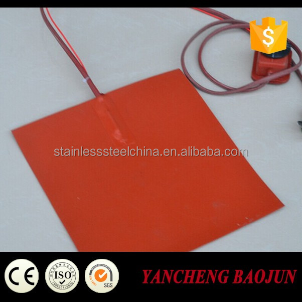 Customized 60 Watt 12 V Volt Silicone Fuel Line Heater