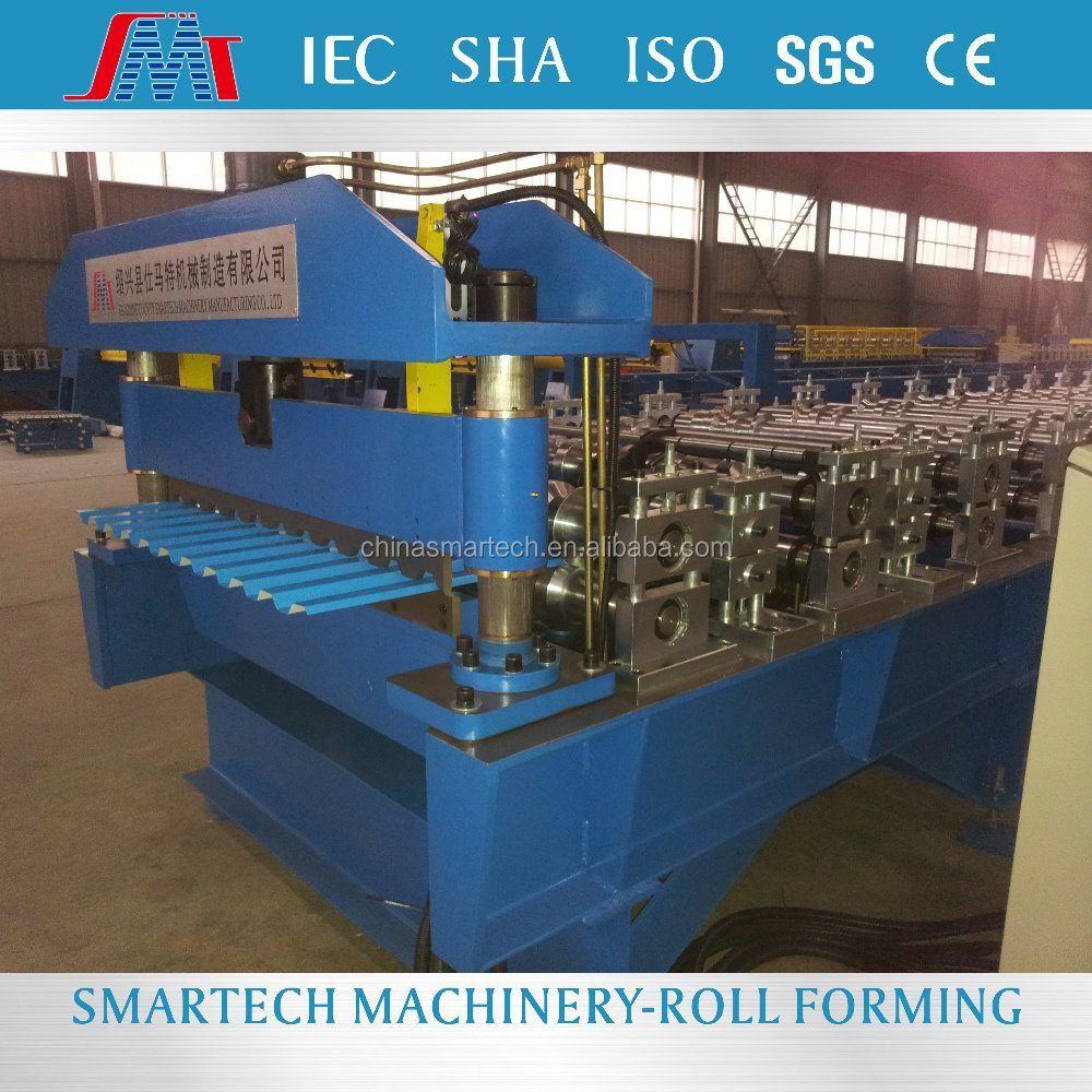 High Speed C21 galvanized roofing sheet roll forming machine steel shingle curve roof span rolling machine