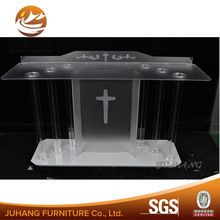 Increase the size of the acrylic podium for church