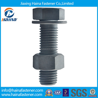 Chinese Manufacturer DIN933 DIN931Carbon Steel HDG m30 Hex Bolt with nut