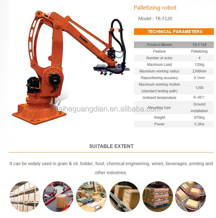 industrial robot ,china palletizing and packaging equipment,pallet stacking robots