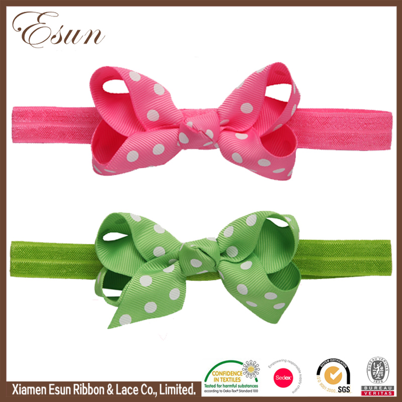 20 Colors baby bow hair accessories fashion elastic headband