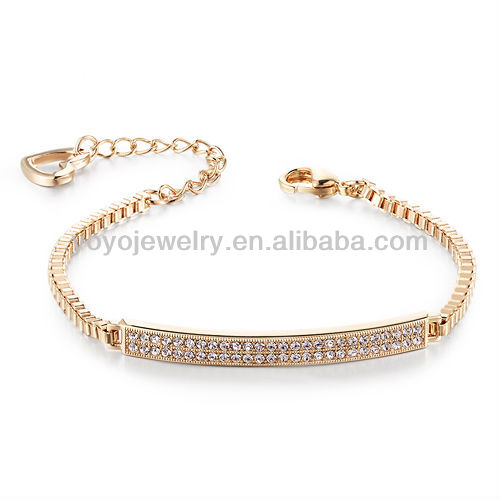 B772 2014 new design elegant saudi gold jewelry bracelet