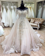2018 new style china guangzhou pink wedding dress bridal gown
