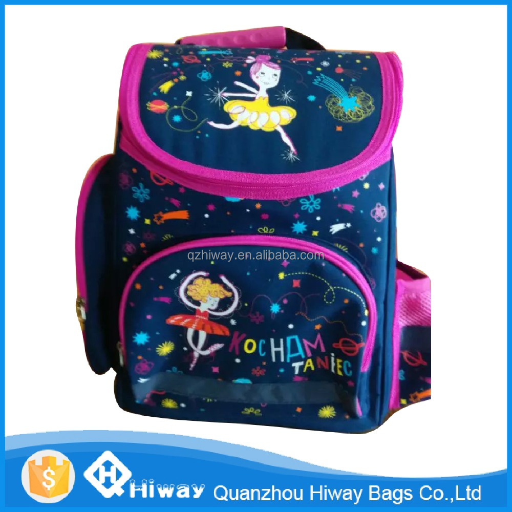 high quality hardcase kids school backpack printed