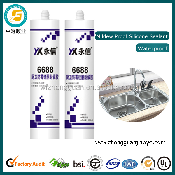 Food grade silicone sealant for kitchenware washbasin