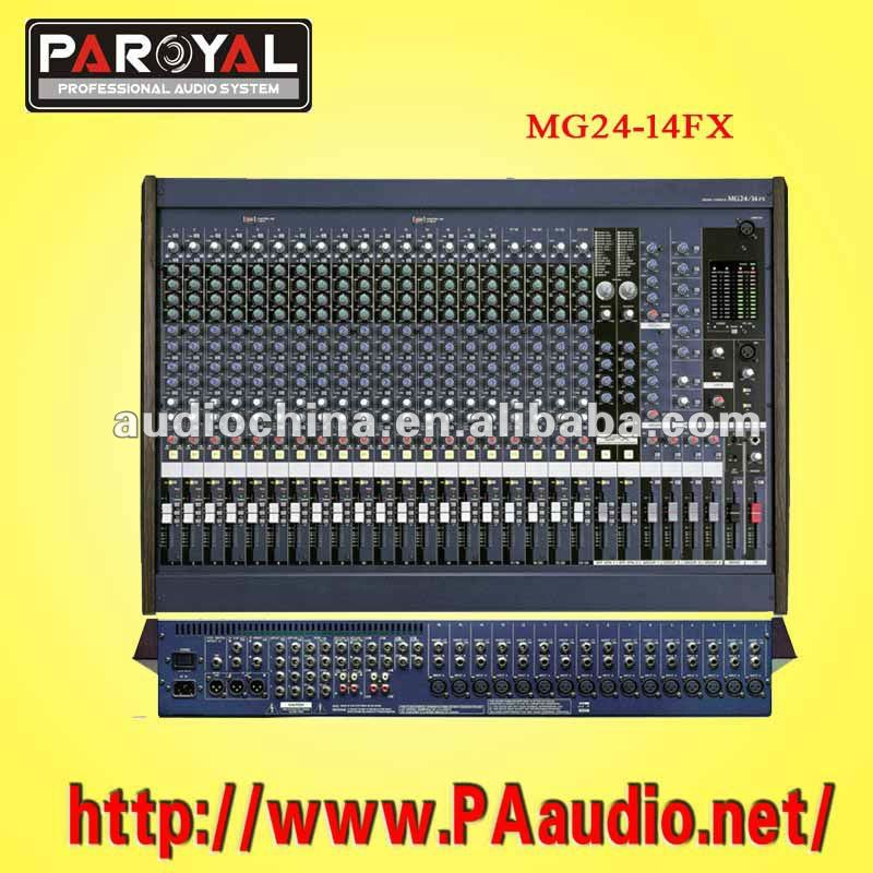 MG24/14FX 24channels Mixer pro audio