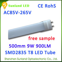 New small size natural white AC85-265V SMD2835 CE ROHS tube light led zoo tube8