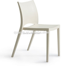 PP plastic pure color chairs restaurant use dining chairs