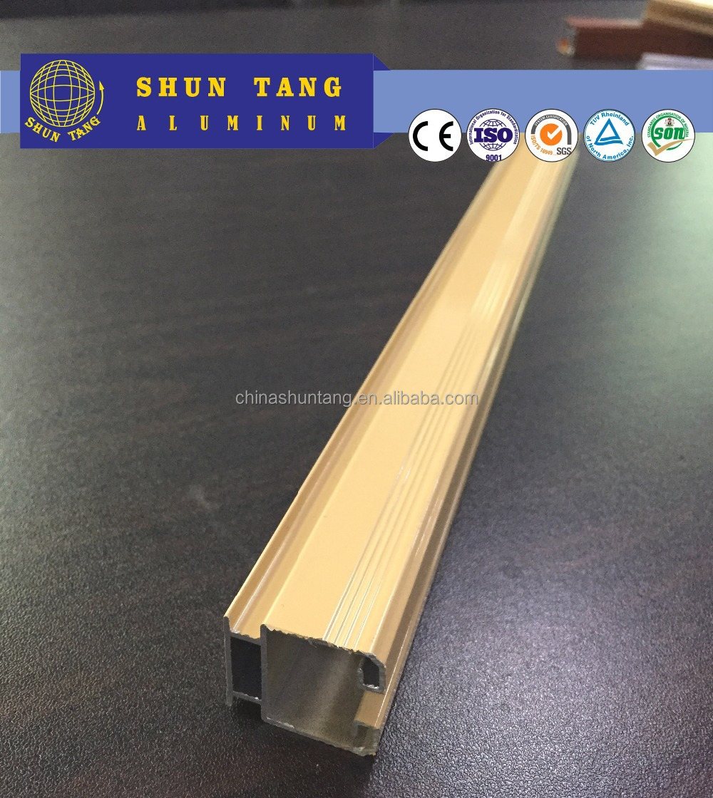 Curtain track/Industrail widely use 6063 T5 triangle extruded aluminum profile glazing