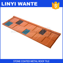 Professional roof manufacturer China High Quality long span colorful stone coated metal roofing tile for hotel use