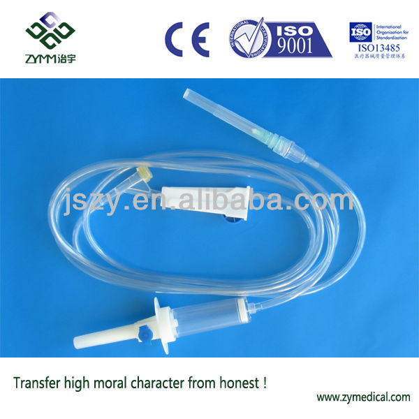 Disposable infusion set with air vent