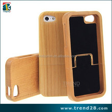 manufacturer real natural wood bamboo case for apple iphone 5 5s