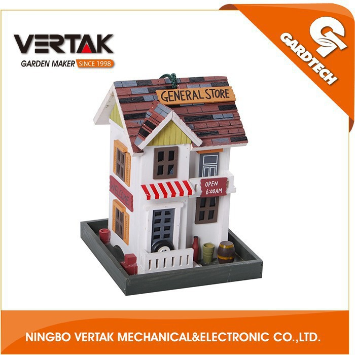 Front rank of garden tools supplier telescopic wooden bird box with CE certificate