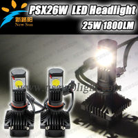 2014 New Model car led head lamp, 50W 3600LM PSX26W led car driving fog headlight lamp with Built in IC Circuit
