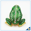 Wholesale Metal Frog With Crystal Jewelry Box Cute Trinket Box For Gifts SCJ753