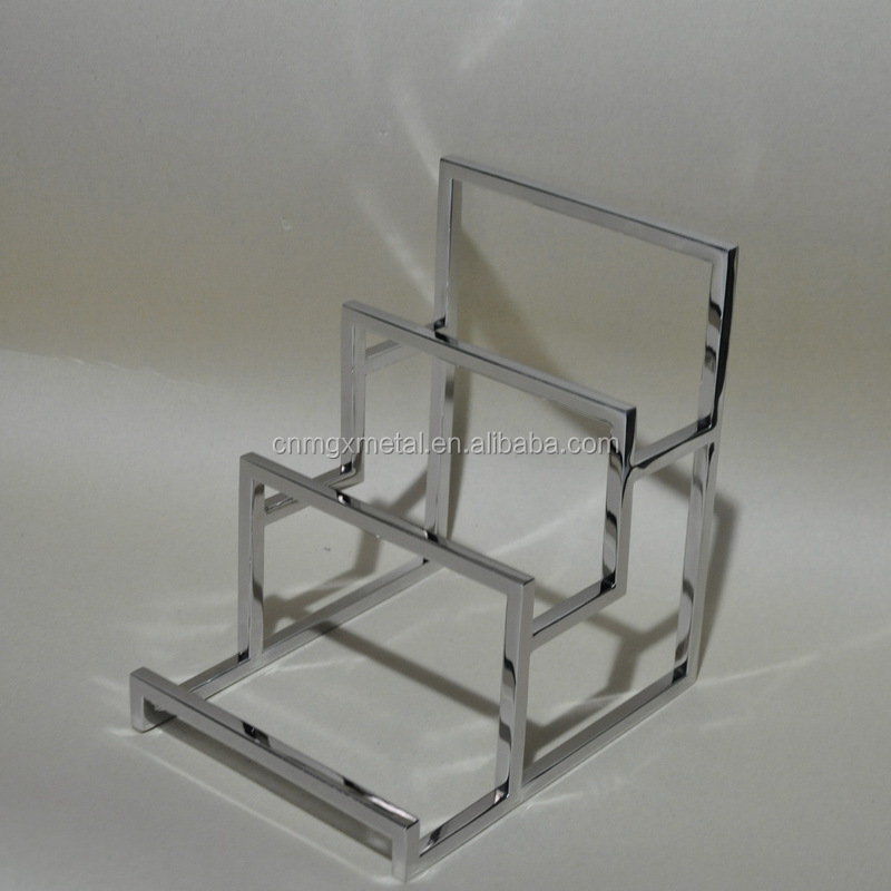 Custom made high quality mirror polished stainless steel luxuries product display