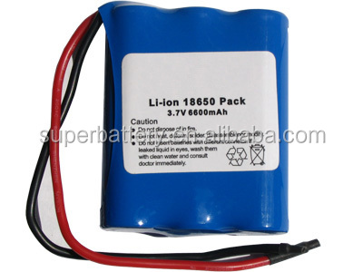 China factory 3.7V 6600 mAh Li-Ion Battery Pack With Protection IC