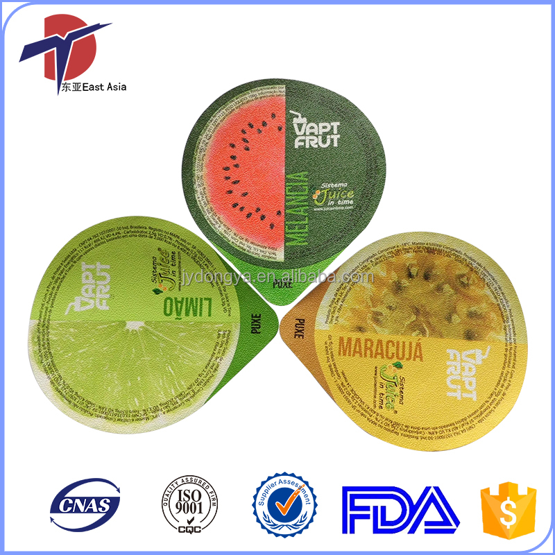 Food Safe Aluminum Foi Lid For Juice Cup