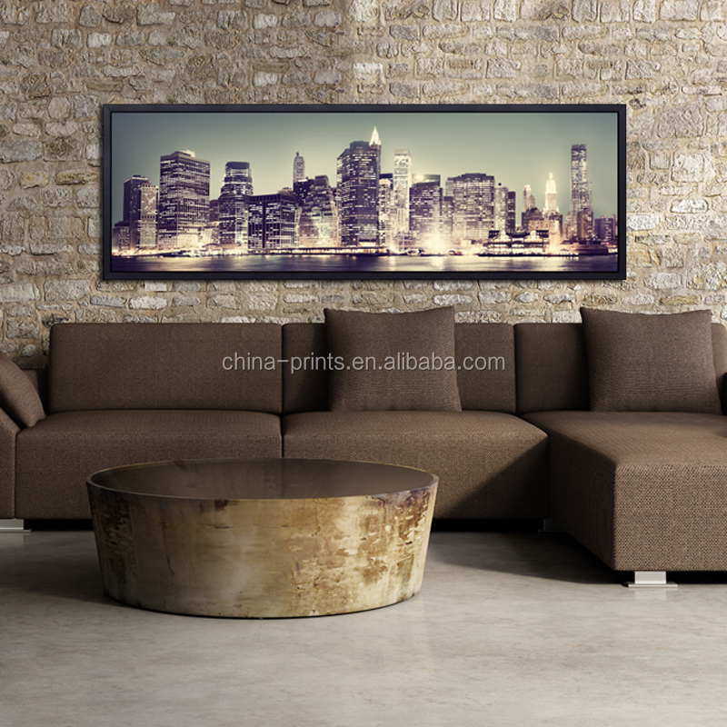 Modern City Canvas Print High Quality Wall Art For Hotel Decoration