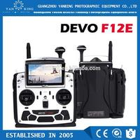 Walkera DEVO F12E Perfect FPV 12CH RC Transimitter with 5in LCD Screen Mode 2 Support 2.4GHz/5.8G 32CH Telemetry