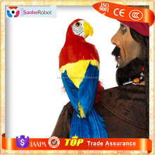 Traveling Event Wholesale Attractive Animatronic Life Size Artificial Parrot Model