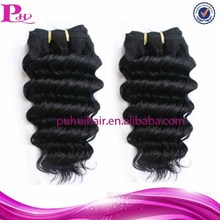2014 hot selling products deep wave 100% virgin brazilian human hair double weft virgin brazilian human hair weft