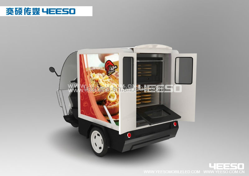 Outdoor Mobile LED Advert Tricycles YES-M1, Cheap Price Electric Delivery Vehicle for Sale