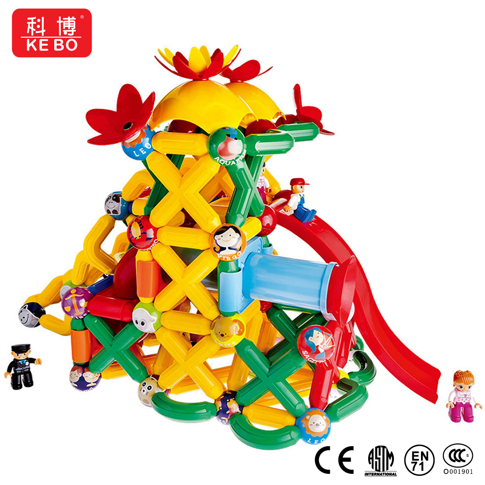Jumbo 60 PCS Magnetic Rods and Balls Building Blocks Construction Stacking Building Set