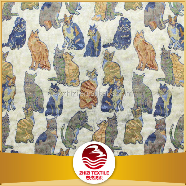 China Wholesale Market Agents cat pattern polyester furnituring fabric