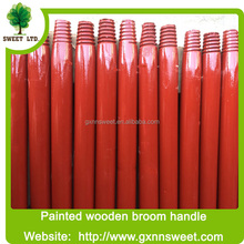 Cheap price Italian thread floor brush wooden stick with color painted
