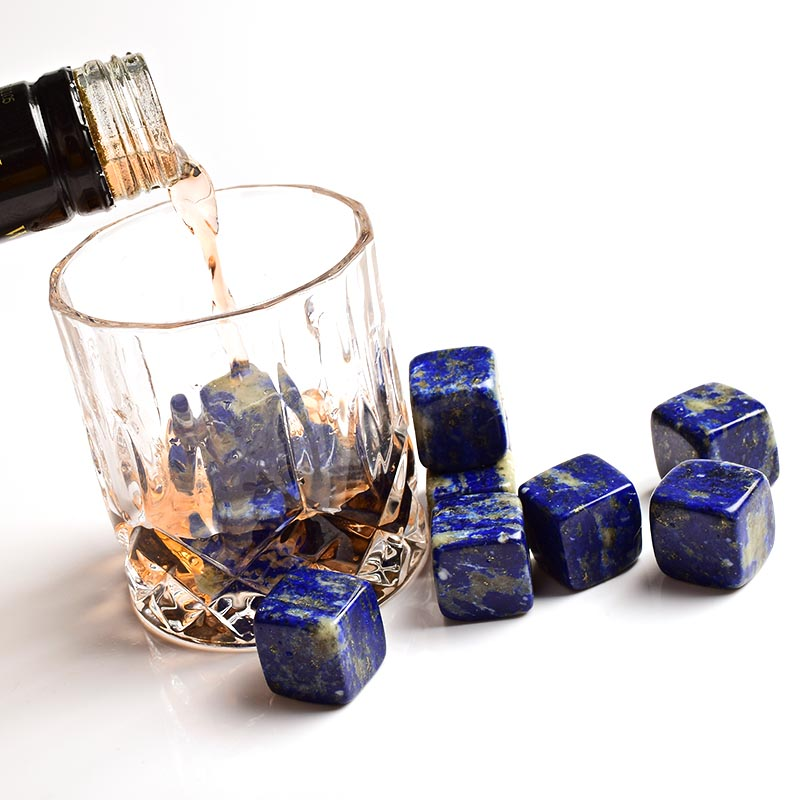Wholesale natural gemstone whiskey stone Bar accessories whiskey ice cube stones beer chiller cube