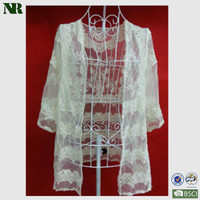 2014 new arrival cotton water soluble lace fabric for wedding dress made by China