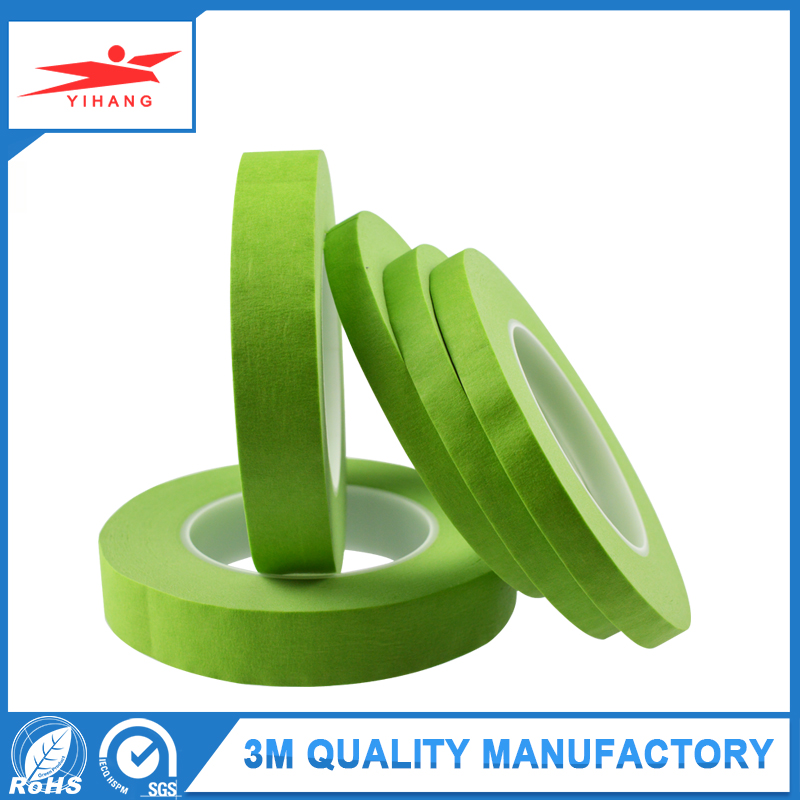 Factory supply Green Yellow Color Temperature Resistant Automotive Masking tape