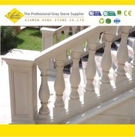 Indoor and outdoor staircase marble balustrade handrail design
