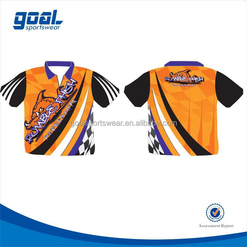 Full sublimation sublimation printing polyester motorcycle auto racing wear