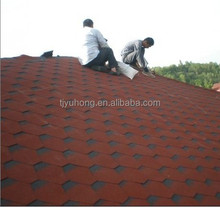 red asphalt roofing shingle