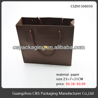 New Design Dark brown large kraft paper shopping bags