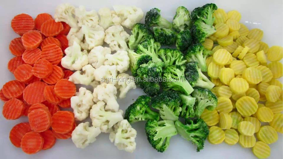 chinese green healthy/organic/lowest price iqf mixed vegetables