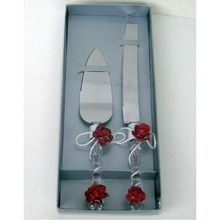 wedding cake server set Stainless Steel Wedding Party Cake Knife and Server Set