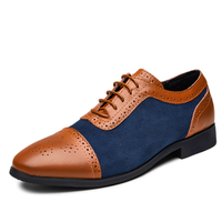Daily Business comfortable big size genuine leather men dress shoes for sale
