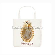 Recycled organic cotton heat printed shopping bag