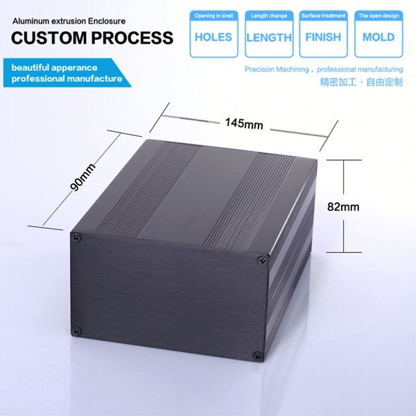 Made in China High quality and cheap price wire drawing with brushed aluminum extrusion enclosure