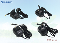 220v ac to 6v 1a dc power adaptor 6w series with EU, UK, US, AU plug type complied with Safety Standards