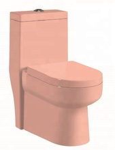 Bathroom pink color china ceramic wc