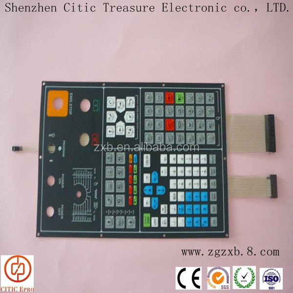 technical waterproof membrane switch keypads with various colors of LED