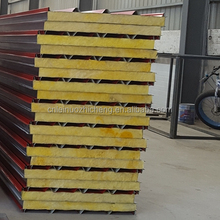 Latest Fiber Glass Wool Sandwich Panel Insulated Metal faced for roof board