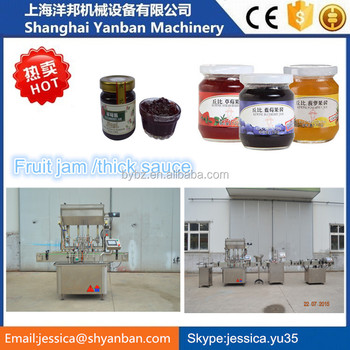2016 Alibaba Shanghai Gold supplier 500ml Automatic bottle sauce filling and capping machinery